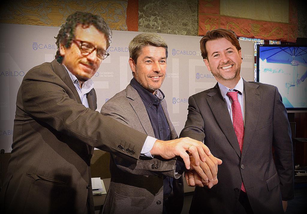 Jesús Morales, Alberto Bernabé y Carlos Alonso (Fotomontaje)
