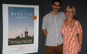 """Dani Millán y Tina Sonck en la presentación del documental """"Maresía""""."""